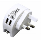 Image for Rolson 2 In 1 Car Charger 2.4A Uk Plug Type